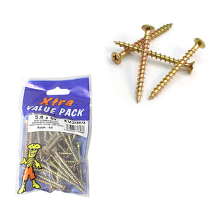 5.0 x 60 Pozi c/sk Chipboard Screws Xtra Value Diy 5308 (Large Letter Rate)