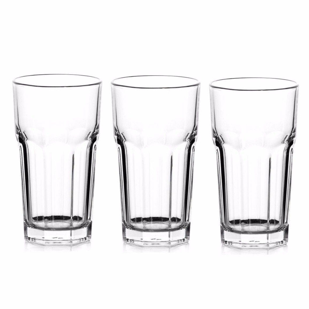 HIGH QUALITY CASABLANCA 3 PCS LONG DRINK GLASS FULLY TEMPERED   9285 (Parcel Rate)