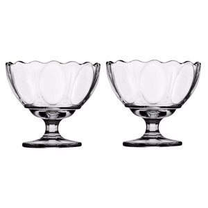 CLEAR 2 PC MANOLYA ICE CREAM CUPS   9823 (Parcel Rate)