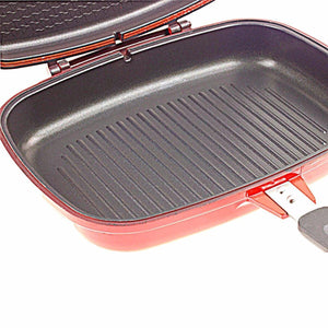 Sq Professional 32cm Nea Diecast Magic Red Pan Magic Red Pan Easy Grill 2140 (Parcel Rate)