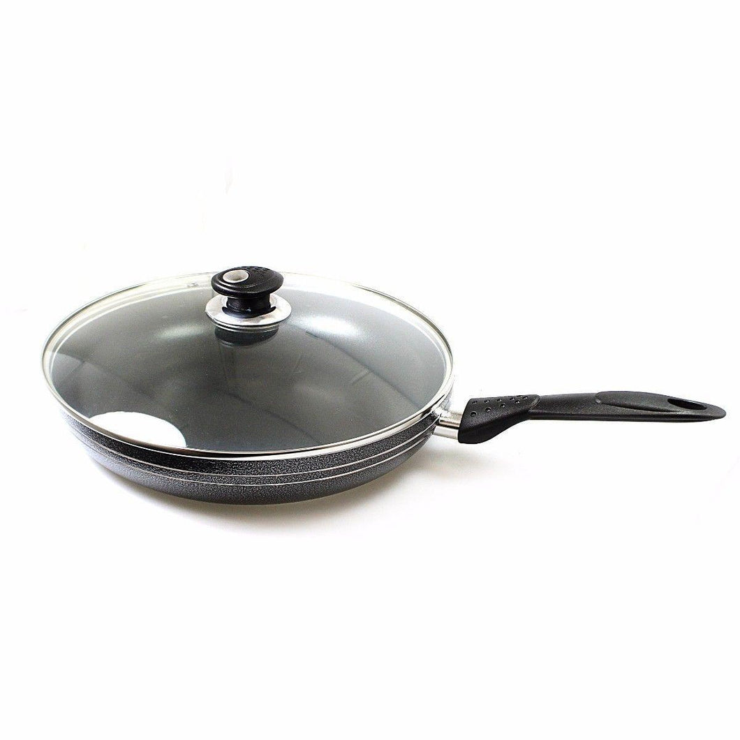 Una Nonstick Frying Pan With Lid 32cm Kitchen 0242 (Parcel Rate)