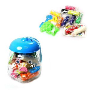 Childrens Assorted Colour Play Dough With Cutter In Pig Jar Art & Craft 0685 (Parcel Rate)