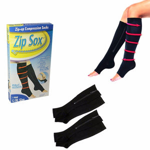 Soft And Comfortable Zip-Up Compression Socks Size L/XL 1 Pair Home Health 4516 (Large Letter Rate)