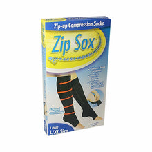 Load image into Gallery viewer, Soft And Comfortable Zip-Up Compression Socks Size L/XL 1 Pair Home Health 4516 (Large Letter Rate)