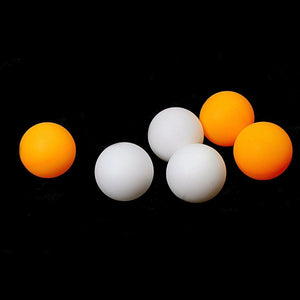 Table Tennis Balls Indoor Outdoor Fun White/Orange Plastic Table Tennis Balls 6 Pack  0379 (Parcel Rate)