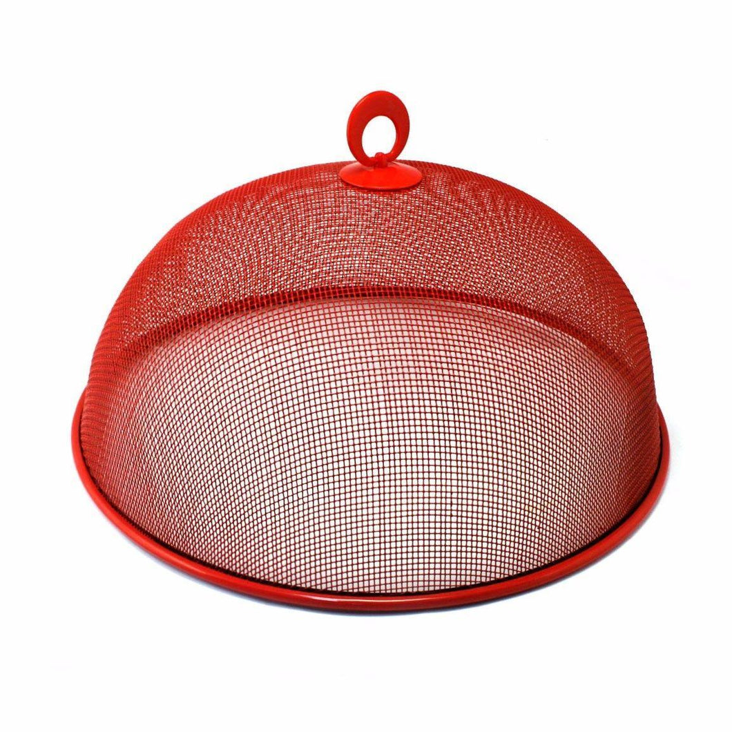 35cm Metal Mesh Food Cover Kitchen Use In Red  0840 (Parcel Rate)