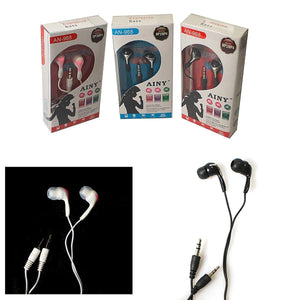 Ainy 968 Earphones Handsfree Music Phone Earbuds With Wire Assorted Colours 0663 (Large Letter Rate)