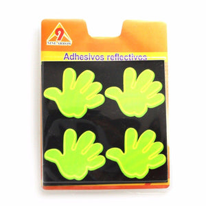 Adhesive Reflectors Neon Smiley Face And Hand Print 1838 (Large Letter Rate)