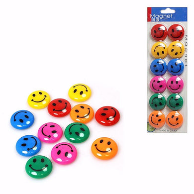 12 Pack Assorted Colour Novelty SMILEY FACE Magnetic Nails    3567 (Large Letter Rate)