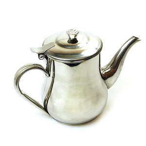 Traditional Style Stainless Steel Tea Pot 18oz Kitchen Home 0850 (Parcel Rate)