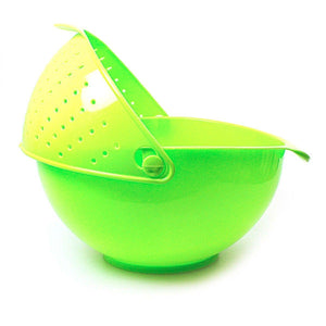 PLASTIC RINSE BOWL AND STRAINER AVAILABLE IN 2 COLOURS   1408 (Parcel Rate)