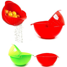 Load image into Gallery viewer, PLASTIC RINSE BOWL AND STRAINER AVAILABLE IN 2 COLOURS   1408 (Parcel Rate)