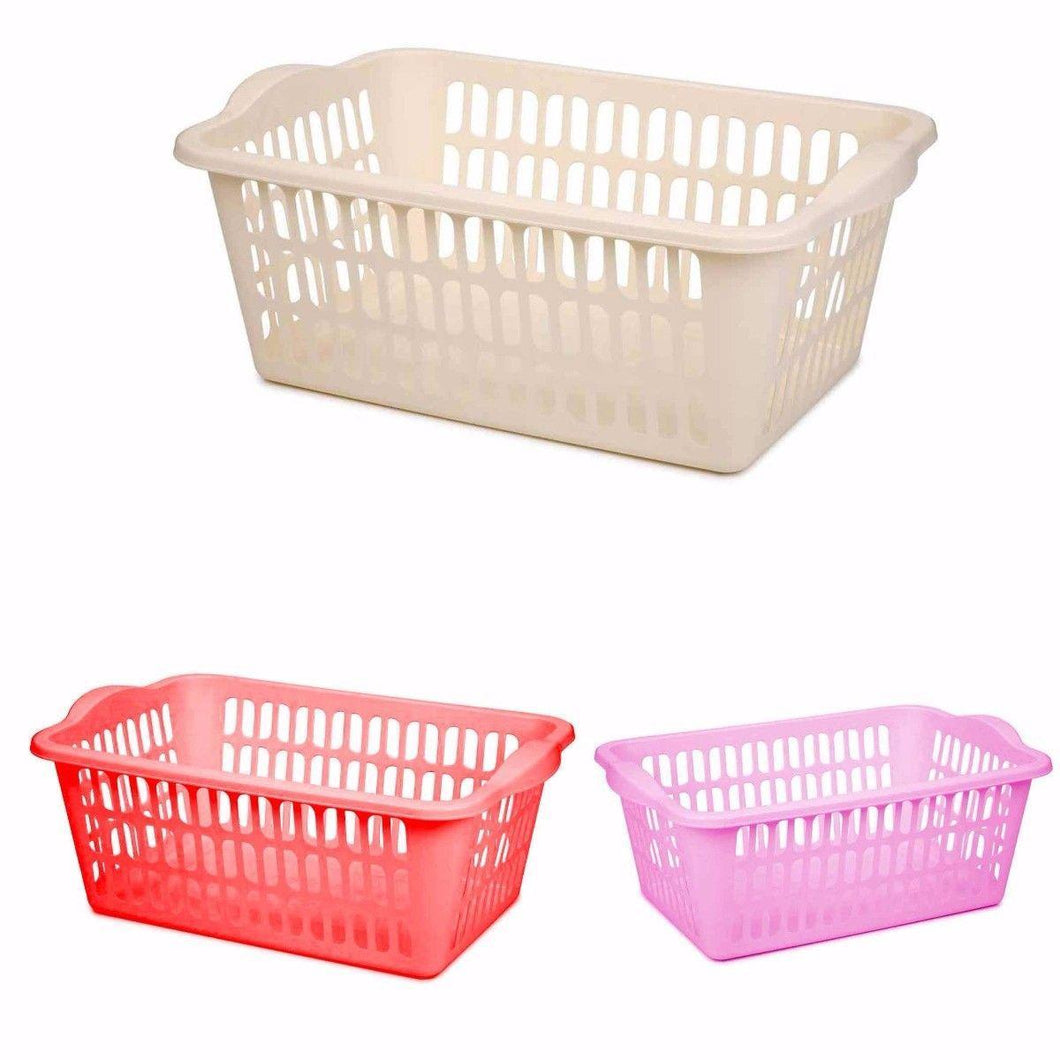 ASSORTED COLOUR CLOTH BASKET MULTI PURPOSE USE  0344 (Parcel Rate)