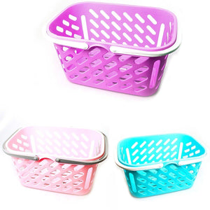 Multi Handy Basket In Assorted Colours Pegs Toys 4033 (Parcel Rate)