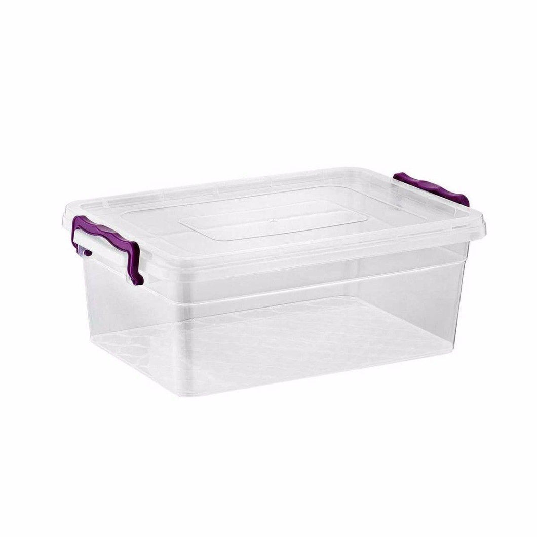 Clear 10 Litre Clip Rectangle Shaped Container 2142 (Parcel Rate)