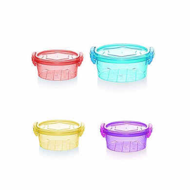 0.20 LTR MULTI AIR TIGHT PLASTIC CONTAINER IN ASSORTED COLOURS    1241 (Parcel Rate)