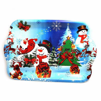 Christmas Party Novelty Printed Food Trays Assorted Designs  2771 (Parcel Rate)