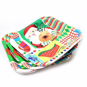 Novelty Assorted Design Christmas Plates Ideal For Parties 1672 (Large Letter)