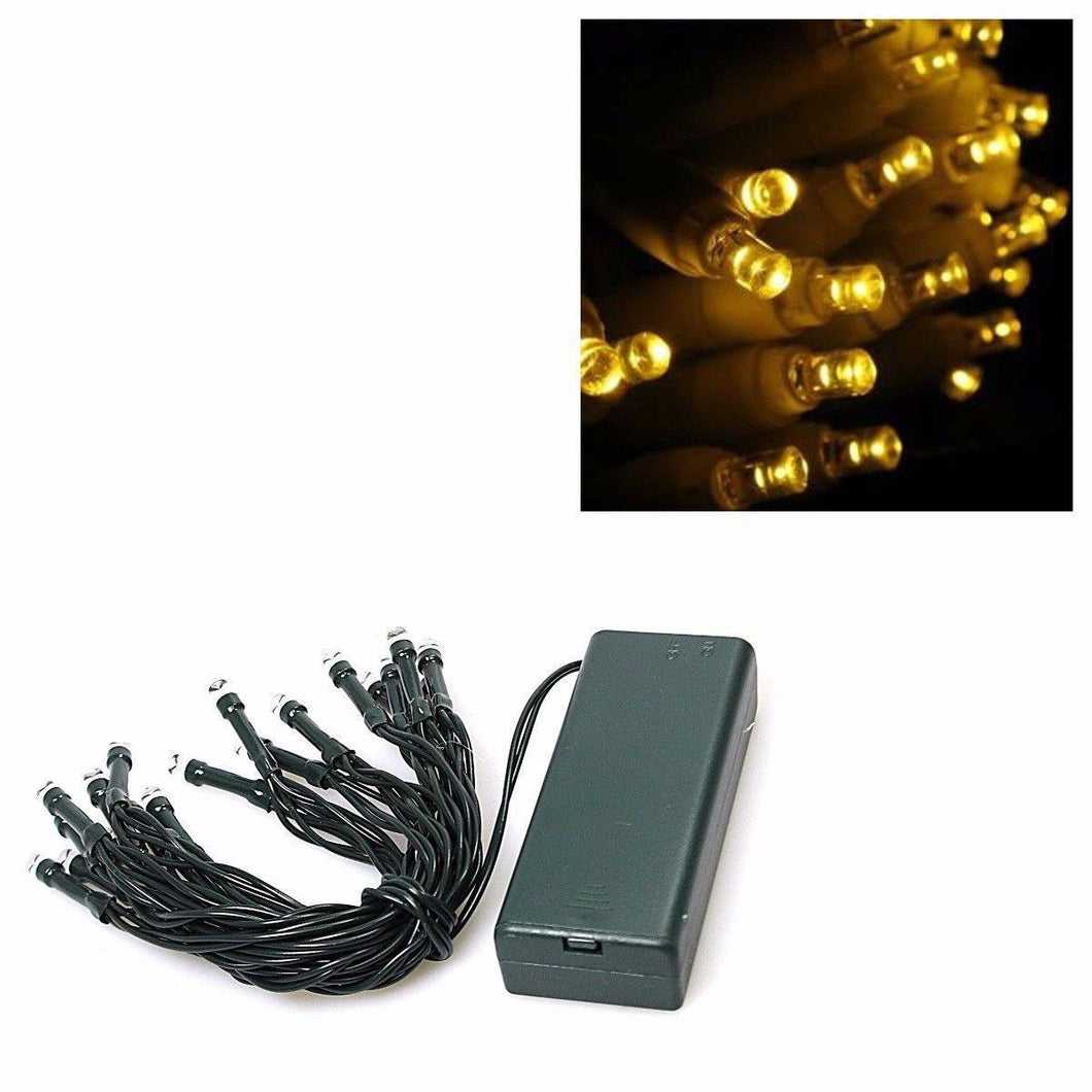 20 CLEAR CHRISTMAS LIGHTS BATTERY POWERED    1748 (Parcel Rate)