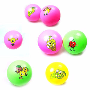 Kids Fun Assorted Colour Playing Throwining Balls With Emoji Print    1058 (Large Letter Rate)
