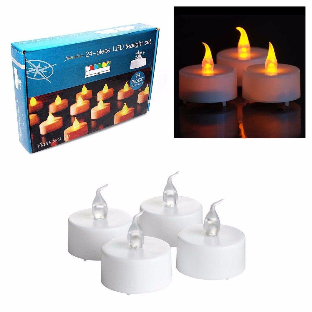 1 Pack LED Beautiful Candle Light Tealight Set  2718 (Parcel Rate)