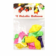 Load image into Gallery viewer, 12 Pack Metallic Birthday Party Balloons Assorted Colours 8945 (Large Letter Rate)