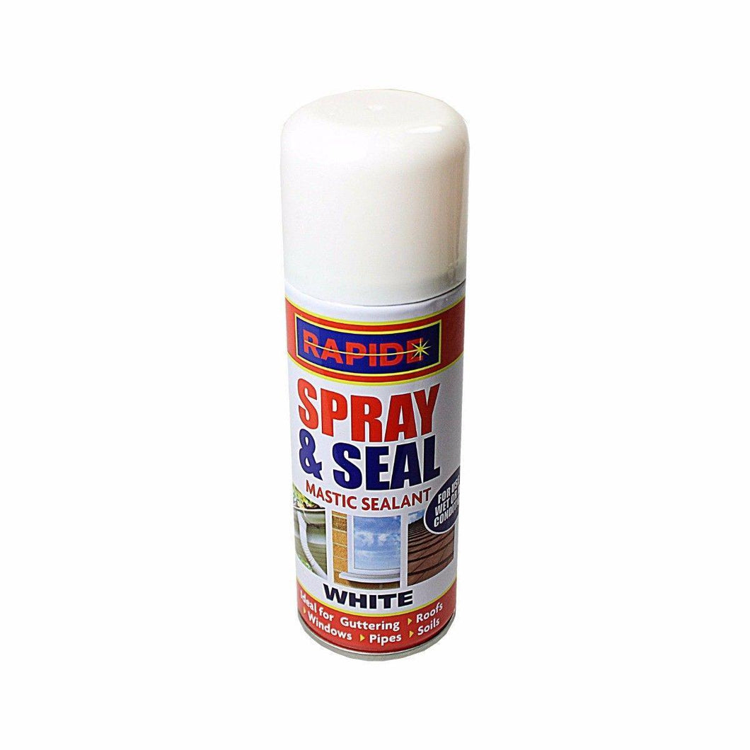 Spray Mastic Instant Leak Stop Spray N Seal Roofs Gutters Pipes 200ml White (Parcel Rate)