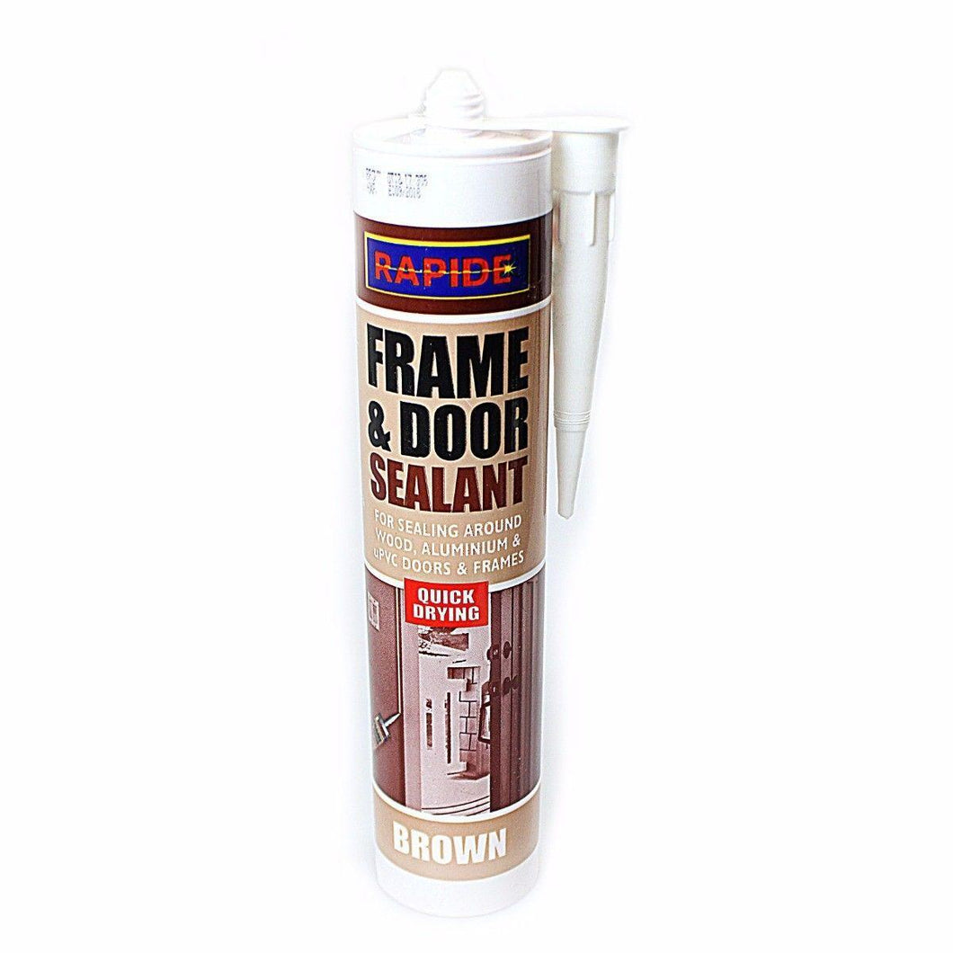 1x 280ml Frame Sealant Brown For All UPVC, Wood and Metal Door and Window Frames  5971 (Parcel Rate)