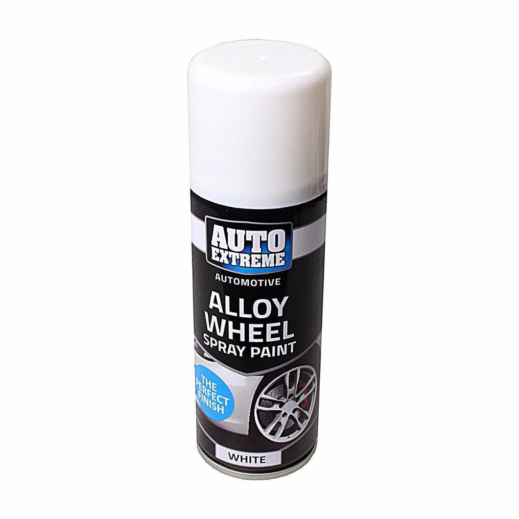 Auto Extreme Alloy Wheel Spray Paint White 200ml 8014 (Parcel Rate)
