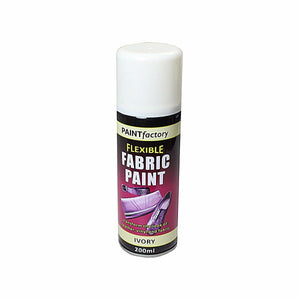 Paint Factory Flexible IVORY Fabric Spray Paint Leather Vinyl Art & Craft 200ml 1070 (Parcel Rate)