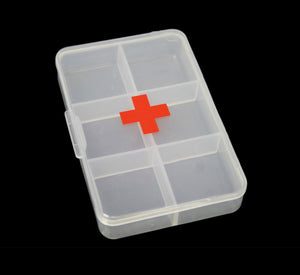 First Aid Pill Box Organiser Safety First Plastic Clear Pill Box 9 x 6cm 5542 (Large Letter Rate)