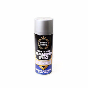 1 x Silver Hammer Effect Spray Paint Can Like Hammerite Metal Rust 400ml  7142 (Parcel Rate)