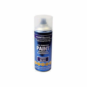 400ml All Purpose Candy Blue Aerosol Spray Paint Household Car Plastic  1762 (Parcel Rate)