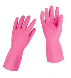 Household Washing Up Pink Gloves House Gardening Rubber Gloves 30cm 55939 (Large Letter Rate)