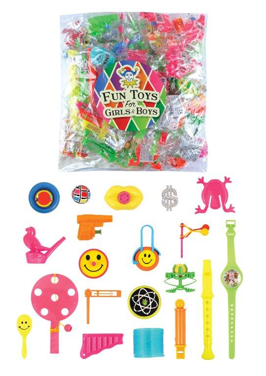 Girls Boys Childrens TOYS Fun 100 Piece Assorted Fun Various TOYS T65143 (Parcel Rate)