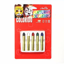 Load image into Gallery viewer, 5 PK ASSORTED COLOUR CHILDREN FACE CRAYONS 3002 (Large Letter Rate)