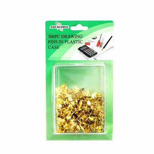 300 Pack Art And Crafts Golden Pins In Plastic Case Multipurpose Use Display Pins  2876 (Large Letter Rate)