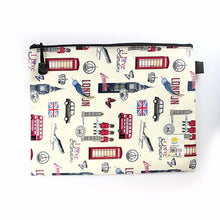 Load image into Gallery viewer, LARGE PENCIL CASE LONDON LEATHER BAG   3461 (Large Letter Rate)