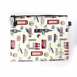 LARGE PENCIL CASE LONDON LEATHER BAG   3461 (Large Letter Rate)