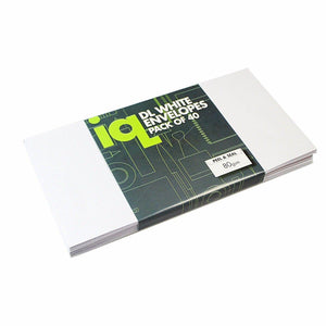 Pack Of 40 DL White Envelopes 80gsm 3257 Home Office Stationery (Parcel Rate)