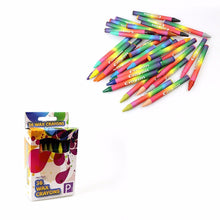 Load image into Gallery viewer, Childrens 36 Wax Crayons In Assorted Colours P2386 (Parcel Rate)