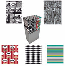 Load image into Gallery viewer, 3m Assorted Design Colour Generic Vintage Gift Wrap 5097 (Parcel Rate)