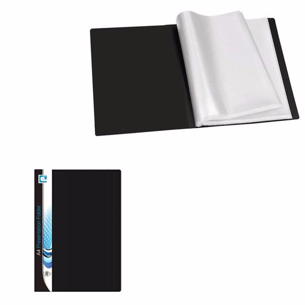A4 Presentation Office Report Folder Attached Plastic Wallets Stationery 1700 (Parcel Rate)