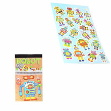 Load image into Gallery viewer, 12 Sheets Robot Stickers Childrens Party Bag Fillers 3710 (Parcel Rate)