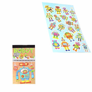 12 Sheets Robot Stickers Childrens Party Bag Fillers 3710 (Parcel Rate)