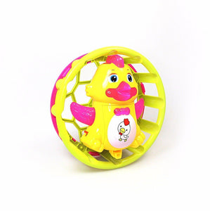 Childrens Funny Duck Toy Music Lights Rotating 2665 (Parcel Rate)