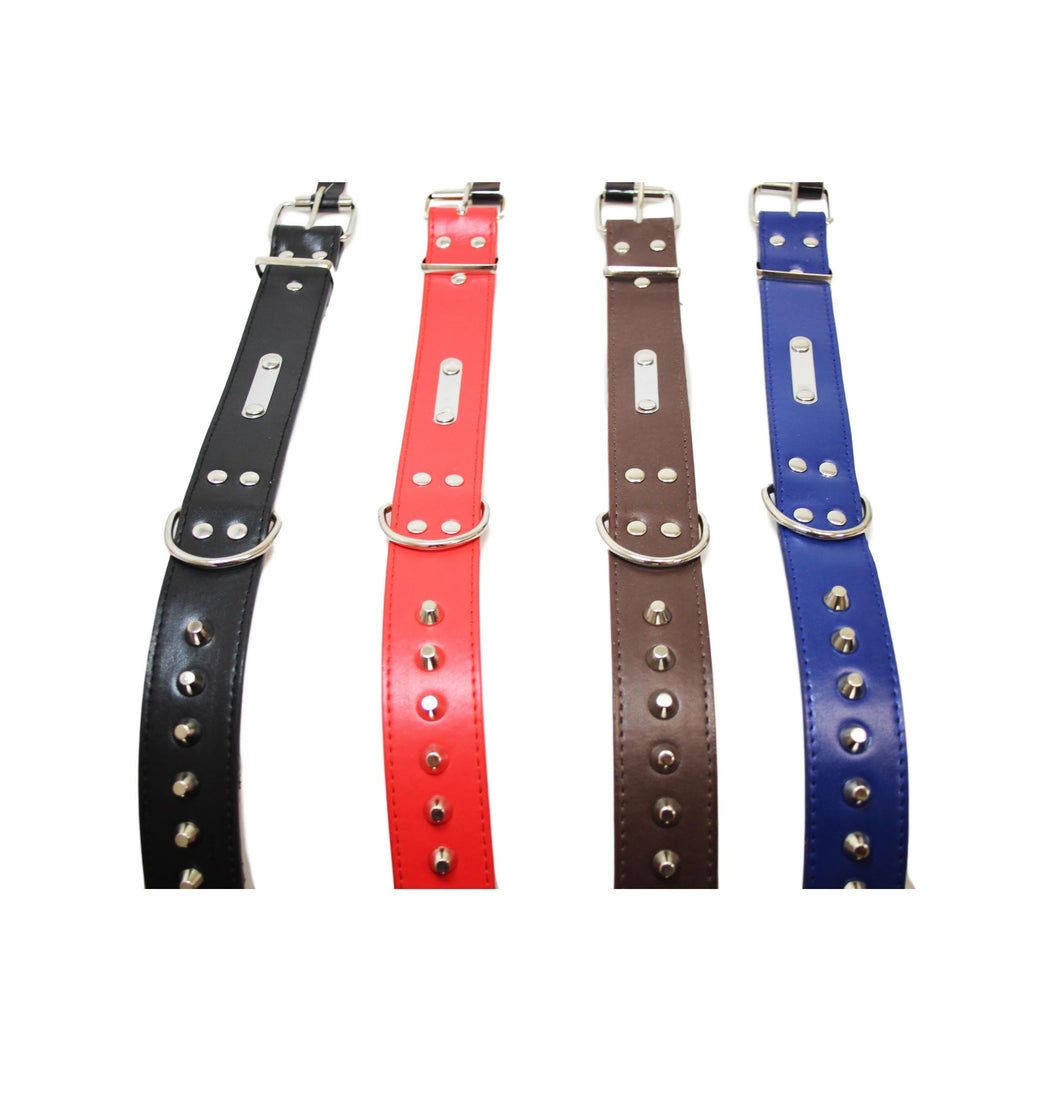 Pets Dogs Studded Collar Belt Assorted Colour Adjustable Buckle 60cm 5881 (Large Letter Rate)