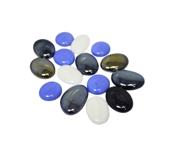 Aquarium Fish Tank Stones Pebbles Gravel Substrate Shiny Fish Tank Decoration 16 Pack 5892