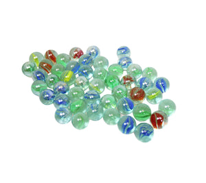 Assorted Glass Marbles Aquarium Fish Tank Decoration Sea Life Kids Toys 5894 (Parcel Rate)