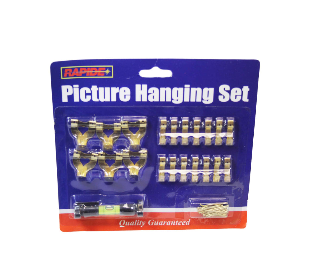 Picture Hanging Set Assorted Kit For Picture Hanging Includes Nails 5963 (Parcel Rate)